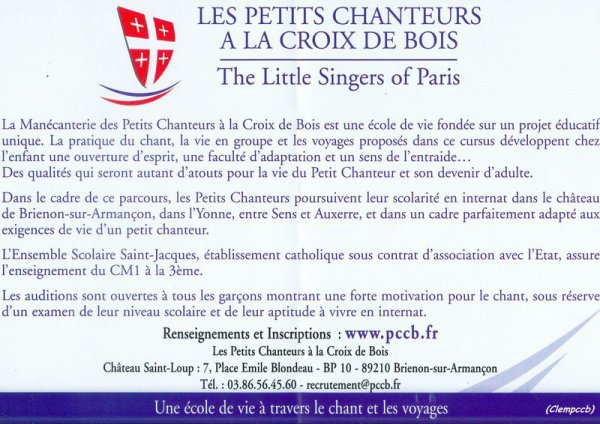 RECRUTEMENT PCCB 2012 1ere AUDITION LE 24 MARS 2012