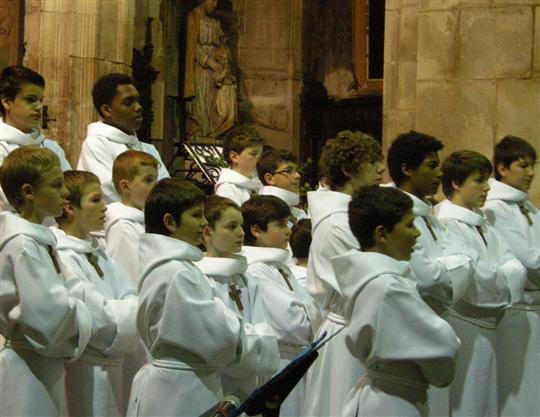 Une ovation pour les Petits Chanteurs...