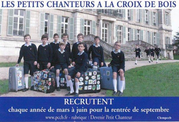 Devenir Petit Chanteur à la Croix de Bois...PROCHAINE AUDITION LE 06 AVRIL 2013