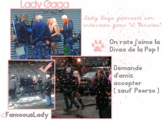 """Lady gaga En Interview Pour """" 66 minute """" ~ Pochette de L'album !"""