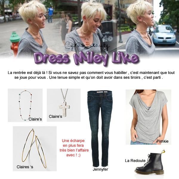 Miley rime avec habits pour la rentrée !