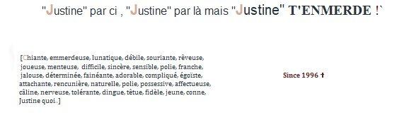 #1 : Justine :D