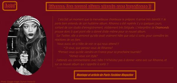 [Actu'] Rihanna: Son nouvel album attendu avec impatience !!