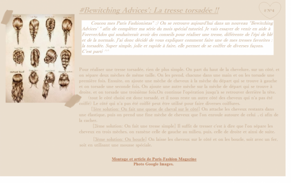#Bewitching Advices' N°3: La tresse torsadée !!