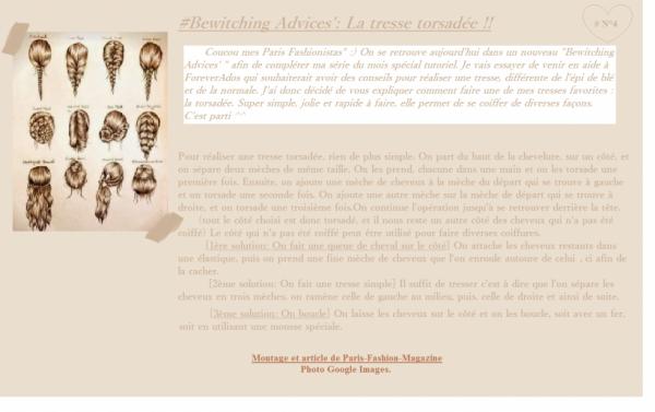 #Bewitching Advices' N°3: La tresse torsadée !!