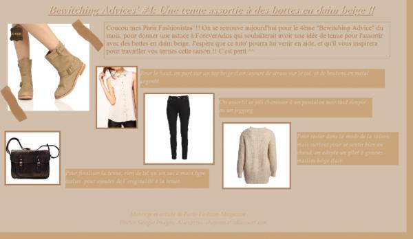 Bewitching Advices' #4: Une tenue assortie à des bottes en daim beige !!
