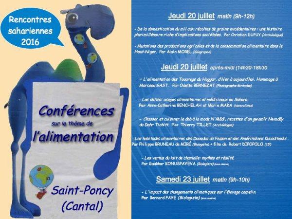 Conférences sur  le thème de l'alimentation