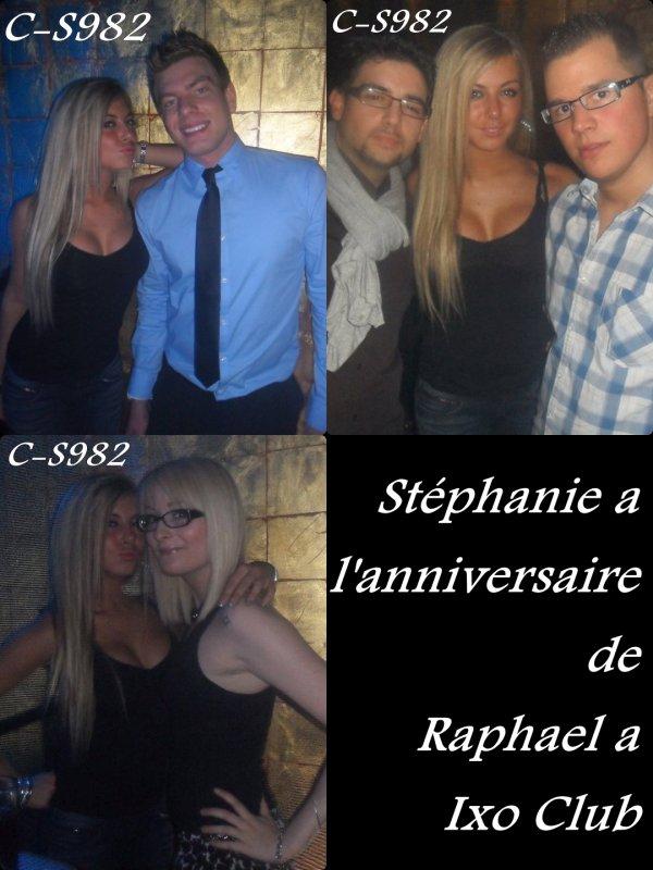 ( + ) Stéphanie a l'anniversaire de Raphael a Ixo Club !