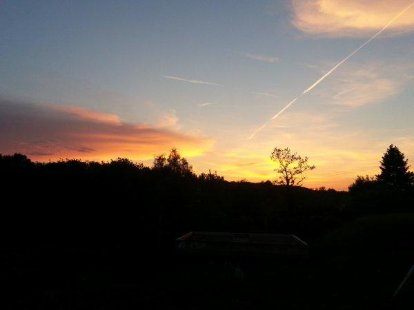 beau coucher de soleil :)