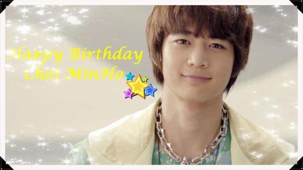 Fanfic: Happy Birthday MinHo !