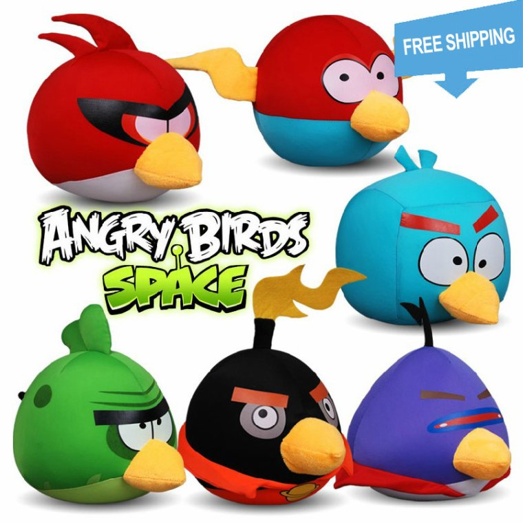 Angry Birds Toys : Plush angry birds of prey