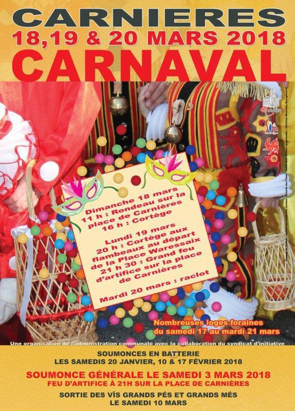 j aimerais aller voir le carnaval de carnières 2019 mais pas les moyens de manger sur place
