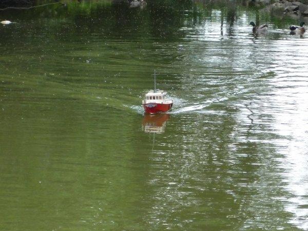 Navigation au parc de Jemappes