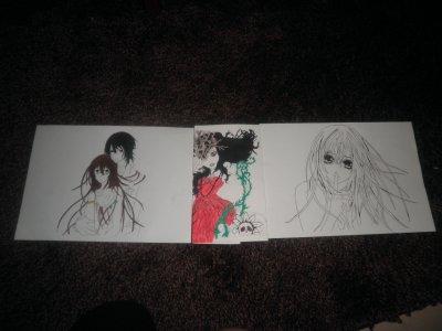 voila  quelque dessin  que j ai fait :D (ils sont pas encor fini XD)