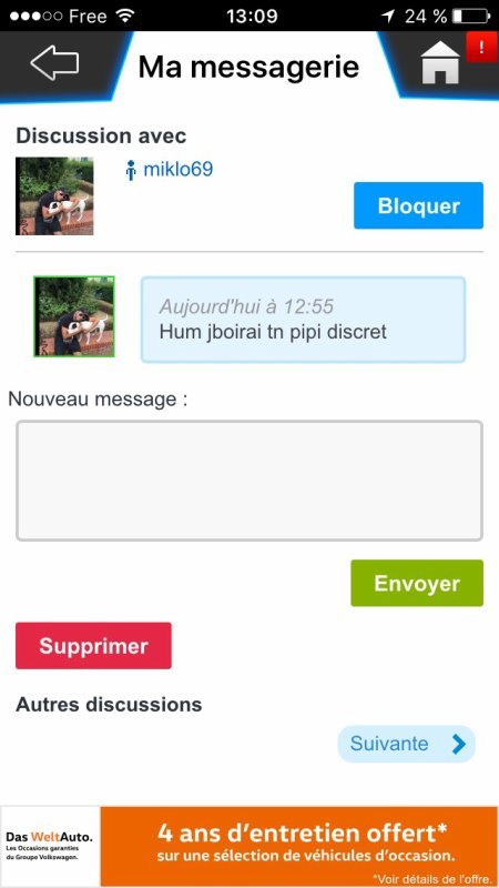 Messages insolite