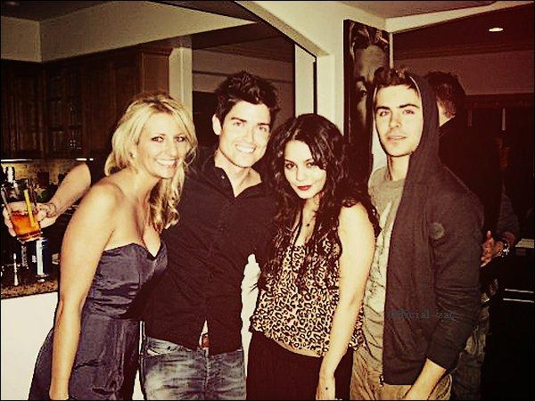 La première image est Zac dans les studios de Abc avec Taylor Swift, et une photo de Zac et Vanessa