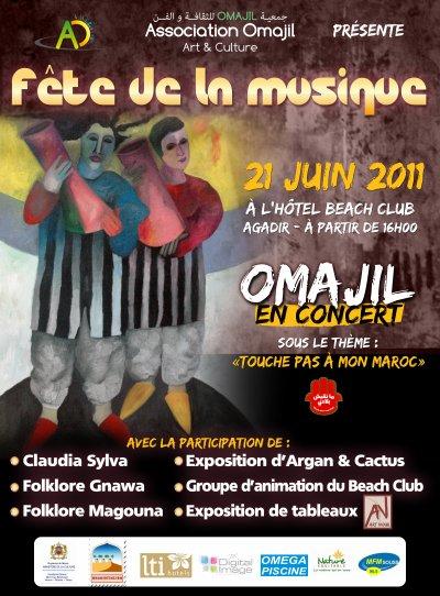 omajil en concert a l'hôtel Beach club 21/06/2011