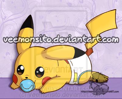 Pikachu en couche-culotte !