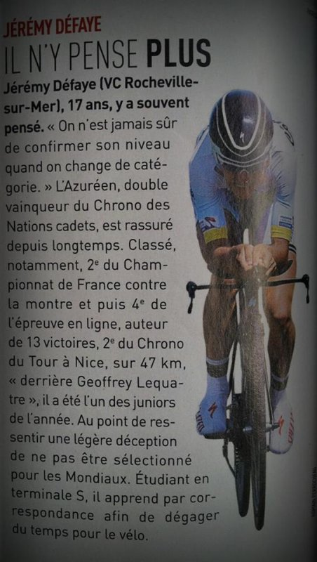 Article vélo magazine du 3 octobre 2013