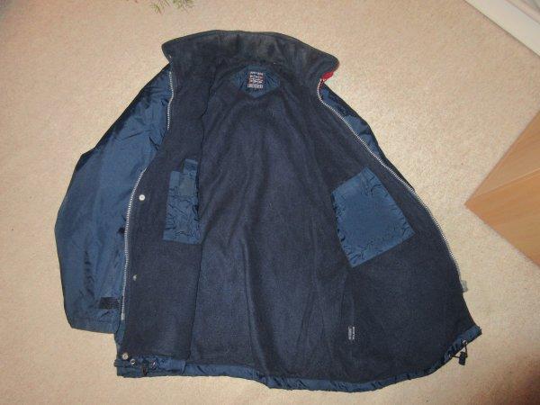 taille L : veste bleue  homme