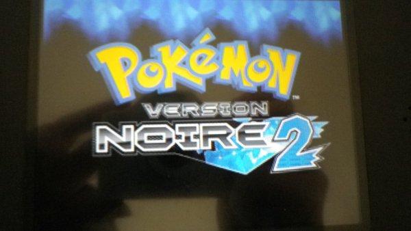 Mon jeu Pokémon noire 2