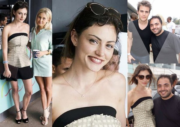ICEBERGS New Year's Day Party – Paul Wesley & Phoebe Tonkin / Nina and Nathaniel Buzolic in Sydney / Nina Dobrev avec des fan a Sydney