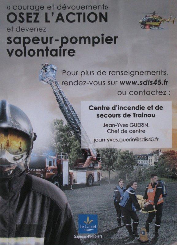 Les Sapeurs Pompiers de TRAINOU 2018 recrutent !!!