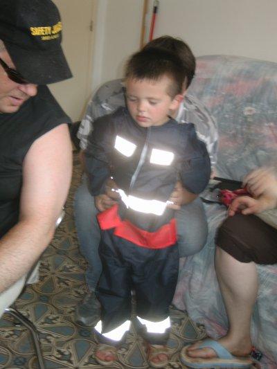 tintin en pompier