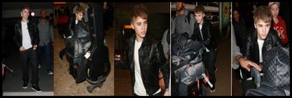 Justin est arrivé aujourd'hui, 3 mars, pour commencer sa tournée européenne 'My World Tour'. Son premier concert à lieu demain, le 4 mars, à Birmingham