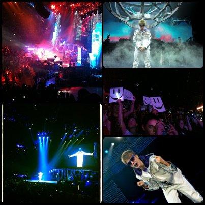 Les premières photos du concert de Justin à Bercy en France .