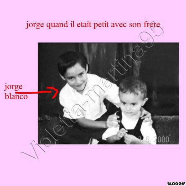 Depuis le plus jeune age Jorge est beau gosse