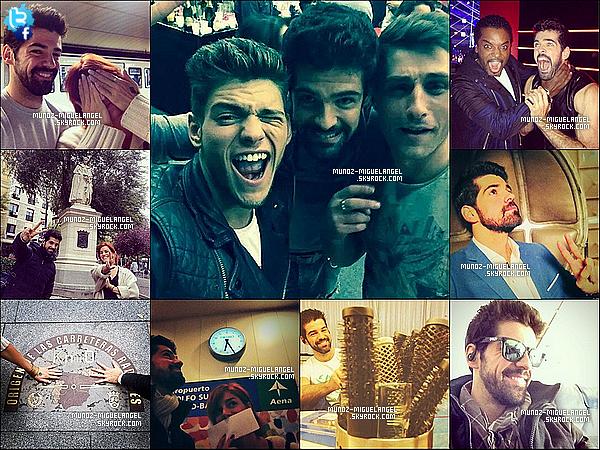 Des Nouvelles photos Personnelles de Miguel postant sur Twitter & Facebook.