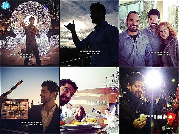 Des Nouvelles photos Personnelles de notre Miguel Angel postant sur Twitter.