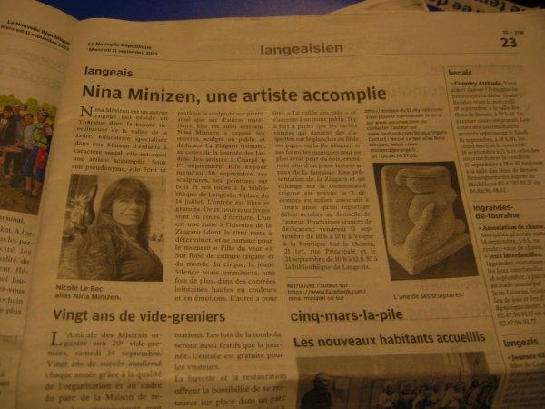 """@Nina Minizen dans la Nouvelle République... et ce n'est pas fini"""""""