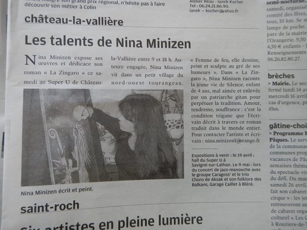 @EXPOSITION ET DEDICACE DE LA ZINGARO A CHATEAU LA VALLIERE - 37330 -@