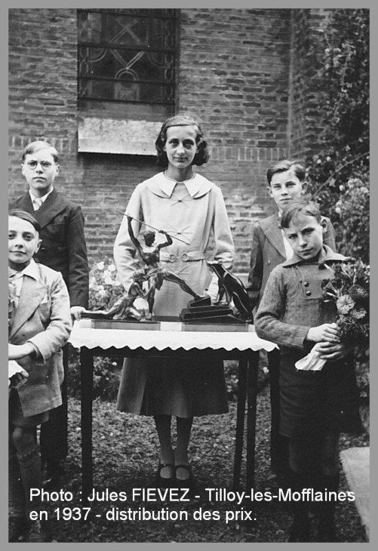 Tilloy les Mofflaines - Ecole publique - Photo de classe de 1937 -