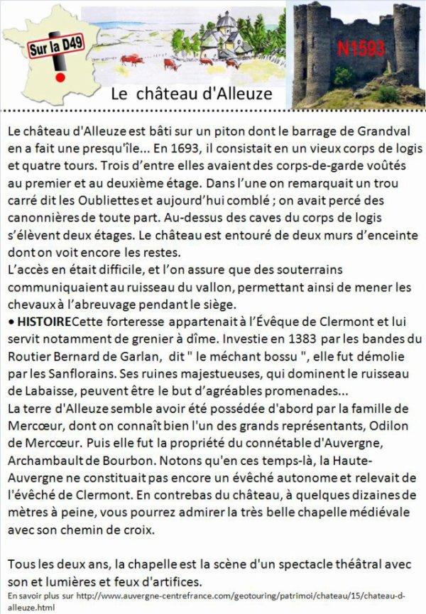Le château d'Alleuze