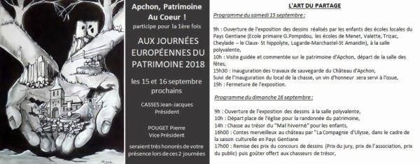 Journées Européennes du patrimoine sur la D49