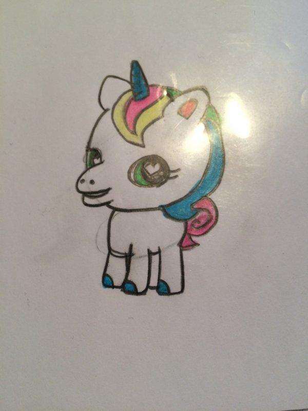 Unicorn faite pour ma petite s½ur, kawaï aussi 8))
