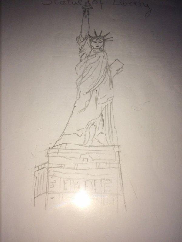 La statue d'la libertée:/ waou!!