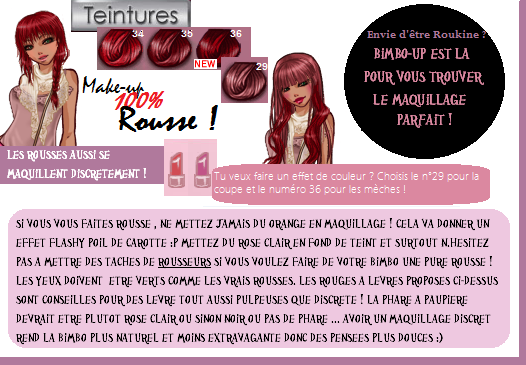 Make Up 100% Discret Spécial Rousses !
