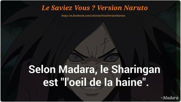 Le saviez-vous Naruto?