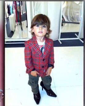Le fils de Céline Dion voit son avenir en talons hauts À 2 ans et demi, il sait déjà ce qu'il veut !!!!!