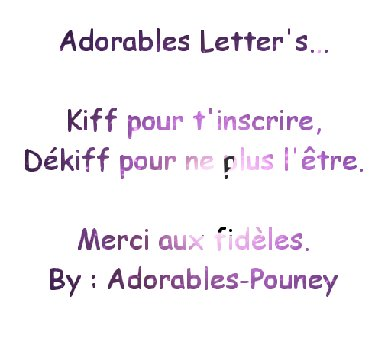 Adorable Letter's...