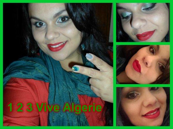 <3 1 2 3 vive Algerie - make up inspitation