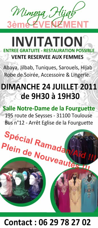 _____________ - - - Mimoza Hijab : 3 ème EVENEMENT OFFICIEL sur Toulouse - - -