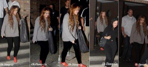 Miley quitte un restaurant à Rio Le 11 Mai