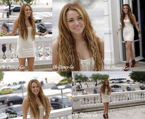 Miley a donné une conférence de presse Le 13 mai à l'hôtel Copacabana A Rio de Janeiro