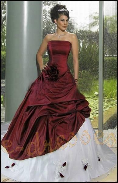 Robe de mariée bordeaux - Mariage, soirée, anniversaire, défilé ...