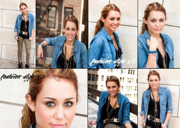 Photoshoot réalisé par Miley C. lors de son passage à New York ... Tu aimes ou pas ?